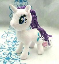 Hasbro Rarity Purple White Unicorn My Little Pony Soft Plush Toy 2016 15CM Tall
