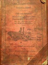 mccormick deering harvester threshers manual No 42 and No 42 R opertor's manual