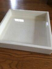 Theodore Alexander Lacquered Eggshell White Square Bedroom or Storage Tray