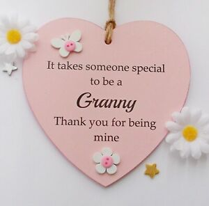 It takes someone special to be a Granny handmade wooden heart gift plaque