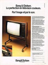 PUBLICITE ADVERTISING 094  1982  BANG & OLUFSEN   téléviseur couleur