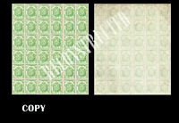 SPAIN 1854 EDIF 32A COATS OF ARMS LARGE SHEET OF 36 RECONSTRUCTED ,  COPY