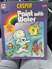 Casper The Friendly Ghost Vintage Original Paint With Water Book Unused New 1992