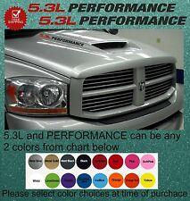 5.3L PERFORMANCE  vortec Dodge Ram 1500 2500  hood vinyl sticker decal hemi