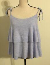 NWT JCREW $79.50 Tiered top in merino wool SizeXL G5694 HTHR BREEZE