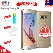 New in Sealed Box Samsung Galaxy S6 G920f LTE 4G Mobile 32GB Gold 1Yr Wty