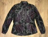 ETRO rare ladies womens silk floral pattern blouse shirt size 46