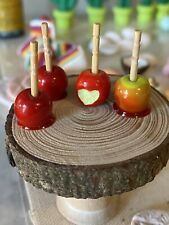 Dollhouse Miniatures Candy Apples Seasonal 1:12 Scale Or 1:6