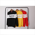 Winter Hot Sale NEW 17/s Supreme Blocked Sweatshirt Stitching color sweater Mens