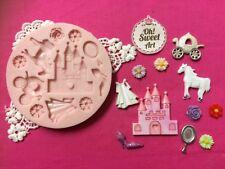 Sweet Princess silicone mold fondant cake decorating cupcakes soap food FDA
