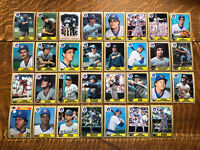 1987 MILWAUKEE BREWERS Topps COMPLETE Baseball Team SET 31 Cards YOUNT MOLITOR!