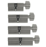 1x Knaufzylinder 30/30 bis 45/45 +5 Schlüssel Tür Zylinder Schloss