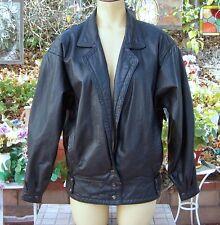 "Nordstrom Brass Plum Women Genunie Leather Jacket with Lining Size ""S""  Nice!!!!"