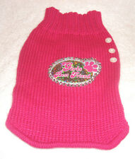 TOTALLY MY PET Cute knitted Pink Dog Outfit Small/Medium Girls best friend