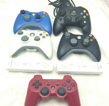 Lot of 7 Controllers For Parts or Repair Xbox 360 Original Xbox PS3 Wii Remote
