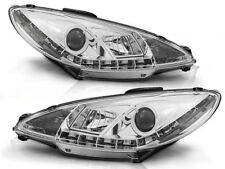 LED HEADLIGHTS LPPE18 PEUGEOT 206 1998 1999 2000 2001 2002 CHROME