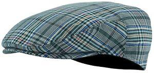Men's Light Weight Tweed Plaid Summer Newsboy Flat Ivy Driving Golf Cap