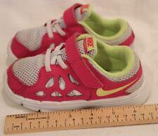 98771160a1 Nike Dual Fusion Run 2 Running Shoe Size 9c-Platinum/ Volt Ice/ Vivid