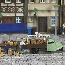 H0 7707 Mini world »Stall with potatoes« busch 1:87