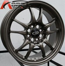 BRONZE 16X7  +45 ROTA CIRCUIT 10 4X100 WHEEL FIT INTEGRA CIVIC FIT YARIS COROLLA