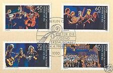 Berlin 1988: Jugend musiziert! Nr. 807-810 mit Ersttags-Sonderstempel! 1A 1609