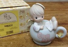 Precious Moments Figurine Dropping in for the Holidays 531952 Angel Egg Nog Cup