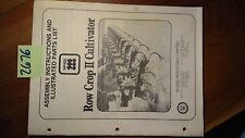 McKee Row Crop II 2 Cultivator S/N 101- & F-101- Assembly Instruc & Parts Manual