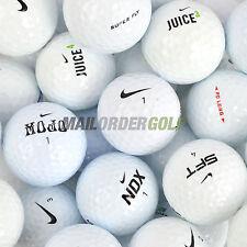 12 x NIKE Mix Lake Golf Balls -NDX PD LONG/SOFT MOJO SFT JUICE etc Pearl/A Grade