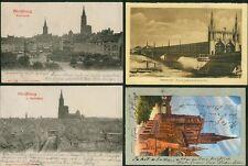 4 alte Postkarten Strassburg,gel.ca1902-1920/Münster/Rheinbr./Kleberpl/Spitalth.