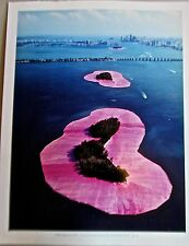 Christo & Jean Claude  Poster Surrounded Islands  Biscayne Bay Miami  14x11