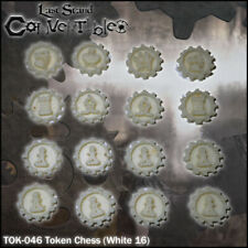 LAST STAND CONVERTIBLES BITS COUNTERS - CHESS WHITE TOKENS (16)