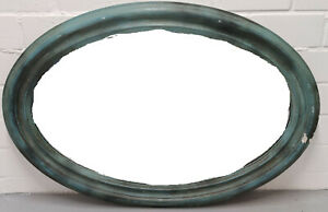 Spiegel oval grün ca. 76x110 cm