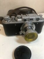 Zorki-1 USSR Copy Leica Film Camera  lens industar-22 /EXCELLENT
