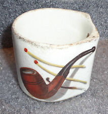 old china wall mounted advertising match holder tobacco cigar graphics