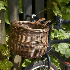 PedalPro Bicycle/bike Front Handlebar Round Brown Wicker Cycle Shopping Basket