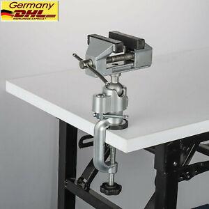 Präzisions Mini Schraubstock drehbar 360° schwenkbar 45°, Tischschraubstock