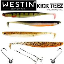 Westin KickTeez Clear Water Mix + Stinger + 14g Jighaken