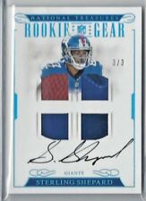 2016 National Treasures FB STERLING SHEPARD RC Quad Patch Auto SSP 3/3