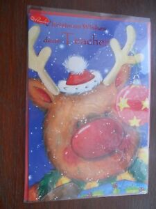 Teacher's Christmas Xmas Card traditional hi quality