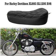 Rider Motorcycle Front Solo Seat Diamond Stitched Cushion For Harley Sportster