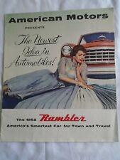 American Motors Rambler brochure 1955 USA market