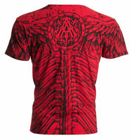 ARCHAIC by AFFLICTION Men T-Shirt COLLISION Wings Skull Motorcycle Biker $40