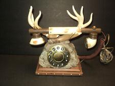 Vintage Deer Antler Telephone Landline Novelty Pushbuttons