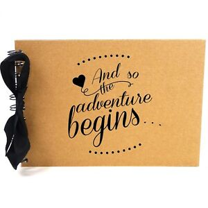 Ribbon, So Adventure Begins, Photo Album, Scrapbook, Blank White Pages, A5