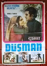 Dushman (Rajesh Khanna) Turkish Movie Arabic Poster 70s