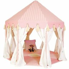 Pavilion Play Tent / Summer Play House with Floor Quilt by Win Green *Green/Pink