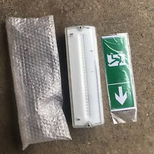 LED EMERGENCY LIGHT BULKHEAD EXIT SIGN IP65 MAINTAINED/NON MAINTAINED