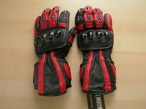 Tek Moto Motorcycle Gloves with Palm Sliders and Leather - Gauntlet