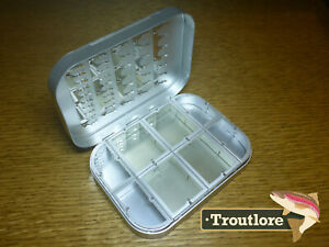 RICHARD WHEATLEY 4 INCH COMPARTMENT FLY BOX w CLIPS - NEW 1408 FLYBOX MADE IN UK