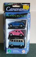 Cararama 1:72 3 pack diecast VW series  Cabriolet, Saloon & Classical Van BNIB